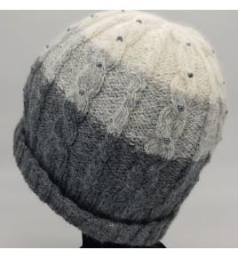 Bonnet tricolore gris pour...